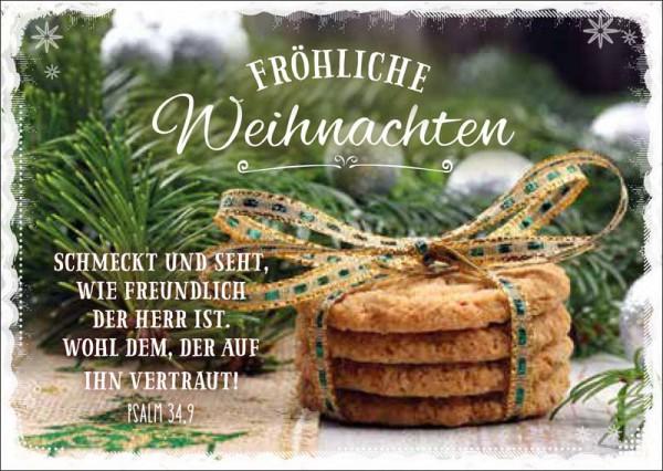 """Postkarte """"Vier Kekse"""""""