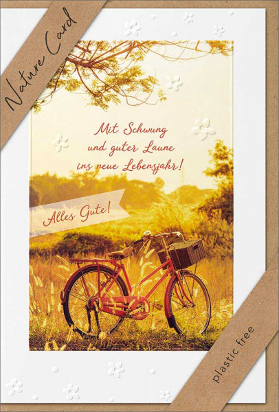 """Doppelkarte """"Rotes Fahrrad"""""""