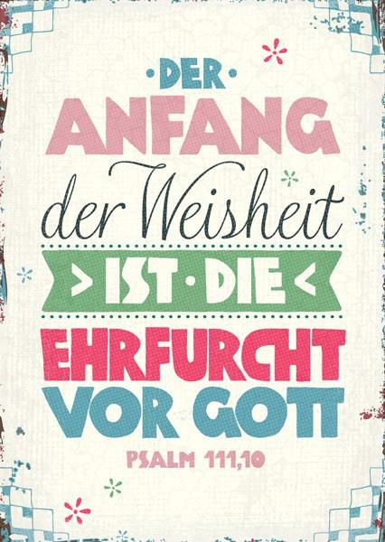 """Postkarte """"Der Anfang der Weisheit"""""""