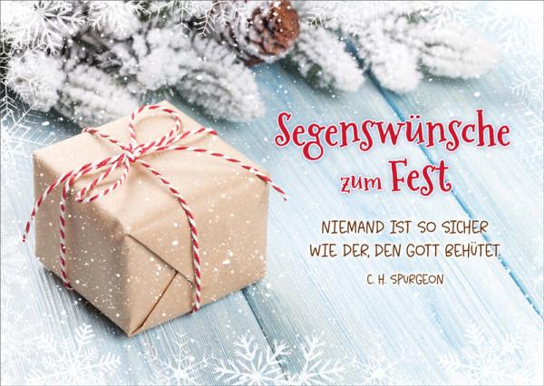 """Postkarte """"Segenswünsche Päckchen"""""""