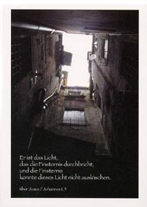 """Postkarte """"Er ist das Licht, ..."""""""