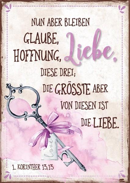 """Postkarte """"Liebe / Schlüssel"""""""