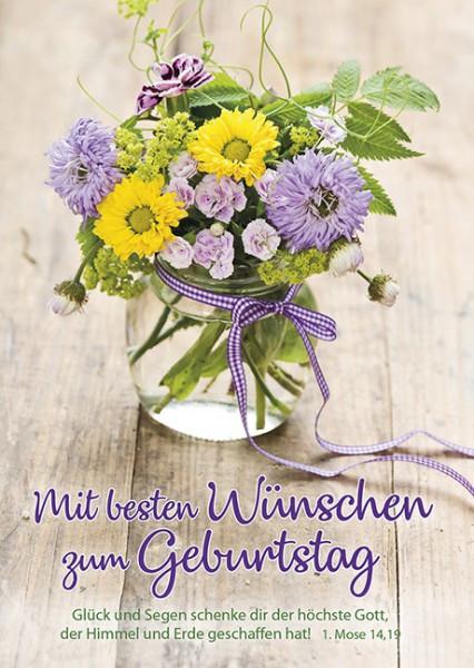 """Postkarte """"Mit besten Wünschen.."""""""