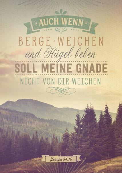 "Postkarte ""Berge und Hügel"""
