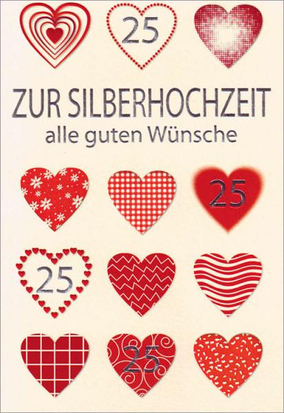 "Faltkarte ""25 Herzen"""