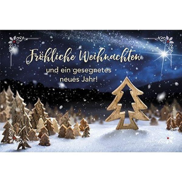 Faltkarte: Fröhliche Weihnachten