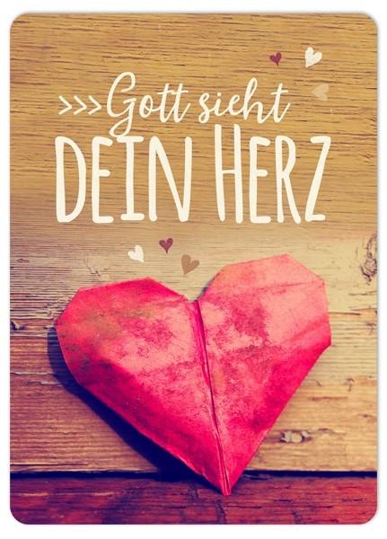 "Postkarte ""Big Blessing - Gott sieht dein Herz"""