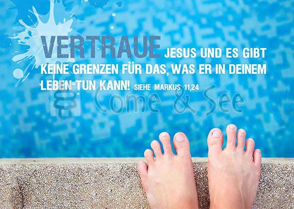 Postkarte - Vertraue Jesus