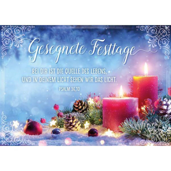 """Faltkarte """"Gesegnete Festtage"""""""