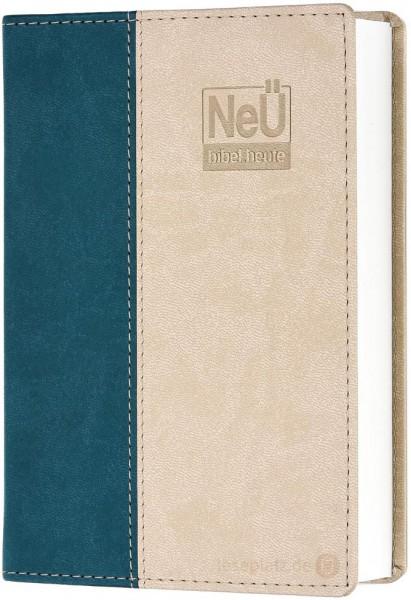 NeÜ - Taschenausgabe Kunstleder beige/petrol