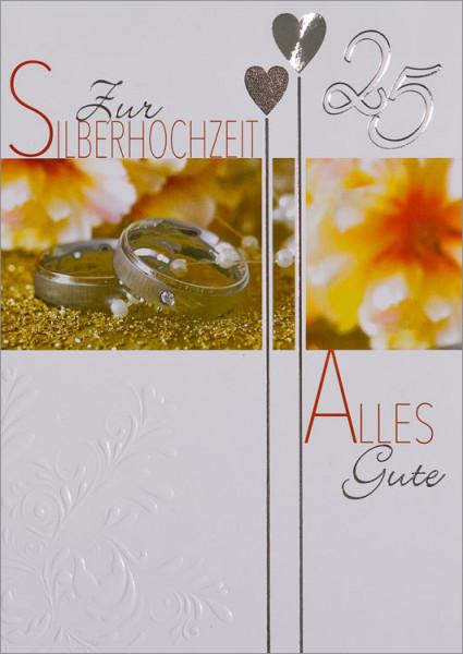 """Faltkarte """"25 Silberringe"""""""