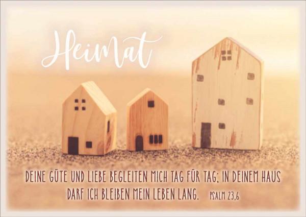 """Postkarte """"Heimat / Häuschen"""""""