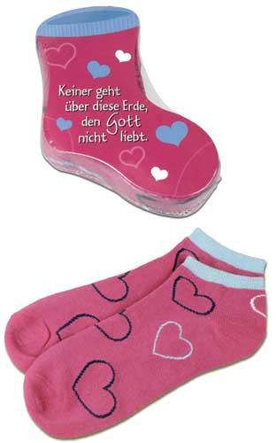 Sneaker-Socken für Mädchen ''Pink/Herzen''