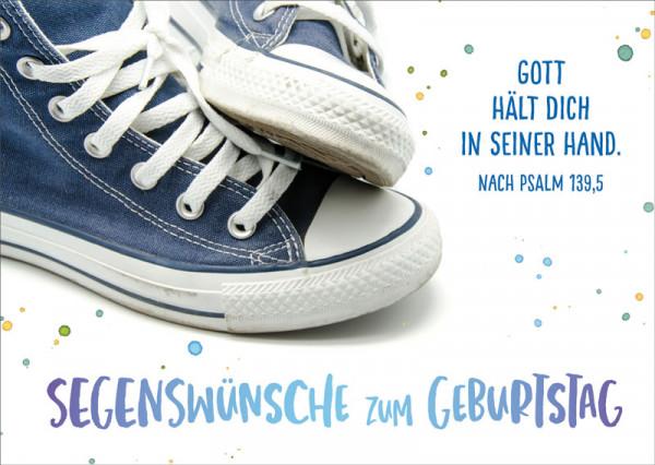 "Postkarte ""Blaue Sneakers"""