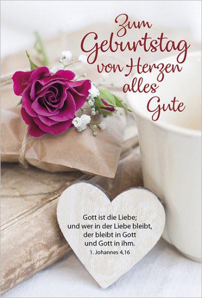 """Faltkarte """"Zum Geburtstag von Herzen..."""""""