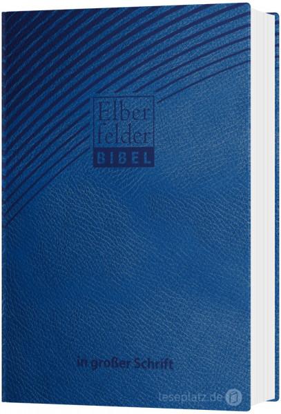 Elberfelder Bibel 2006 in großer Schrift - ital. Kunstleder blau