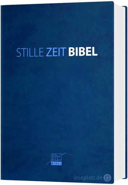 Stille Zeit Bibel (Elberfelder 2006) - Kunstleder blau