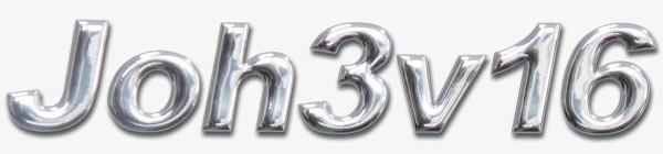 3D-Aufkleber ''Joh3v16''