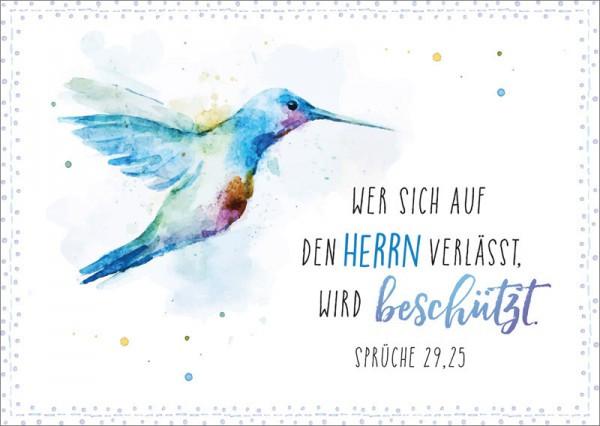 """Postkarte """"Kolibri"""""""