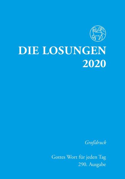 Losungen 2020 hellblau - Großdruck kartoniert