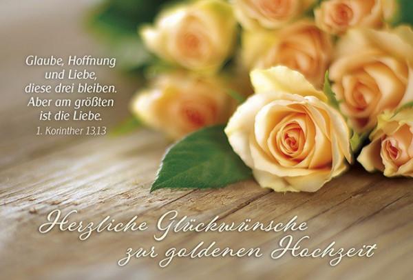 """Faltkarte """"... zur goldenen Hochzeit"""""""