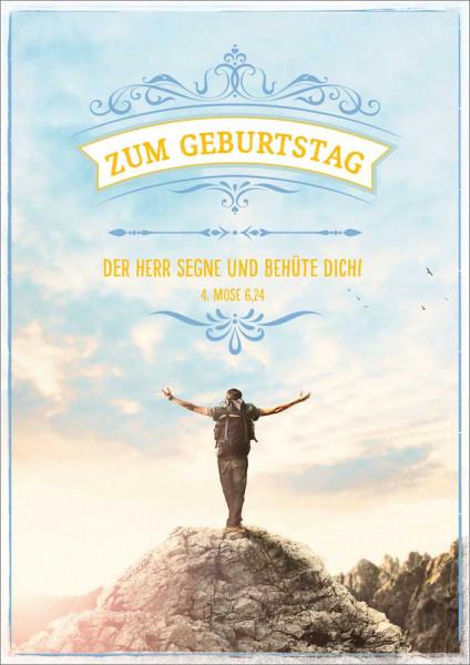 """Doppelkarte """"Mann auf Berggipfel"""""""