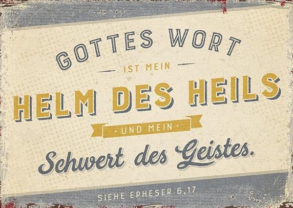 "Postkarte ""Helm des Heils"""