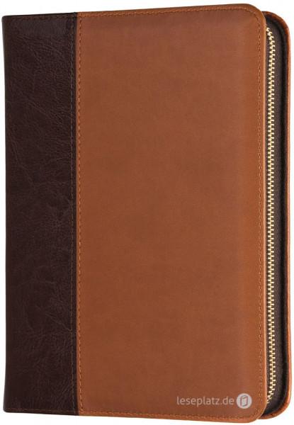 Elberfelder 2003 - Pocketausgabe / Kunstleder braun / Goldschnitt / Reißverschluss