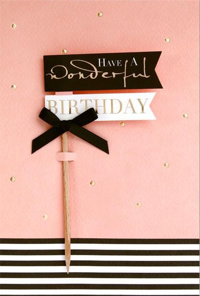 """Faltkarte """"Wonderful B-Day"""" - Geburtstag"""