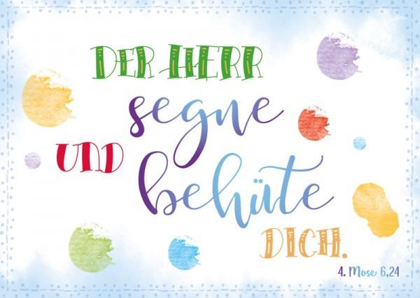 """Postkarte """"Der Herr segne und behüte dich"""""""