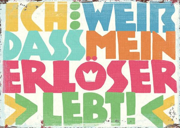 """Postkarte """"Mein Erlöser"""""""