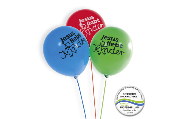Luftballon ''Jesus liebt Kinder'' - 50er Pack