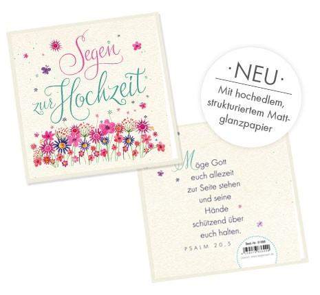 """Faltkarte """"Segen zur Hochzeit"""""""