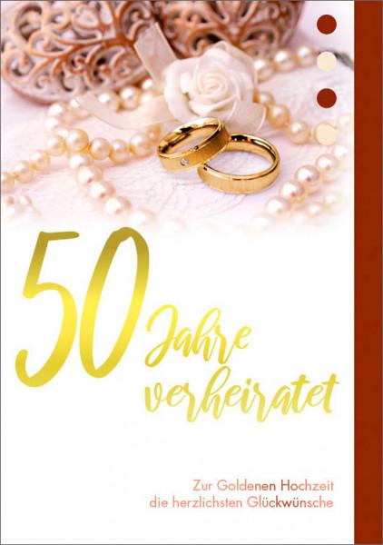 """Faltkarte """"50 Jahre verheiratet"""""""