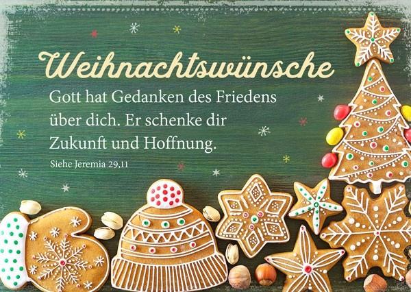 Postkarte - Weihnachtswünsche