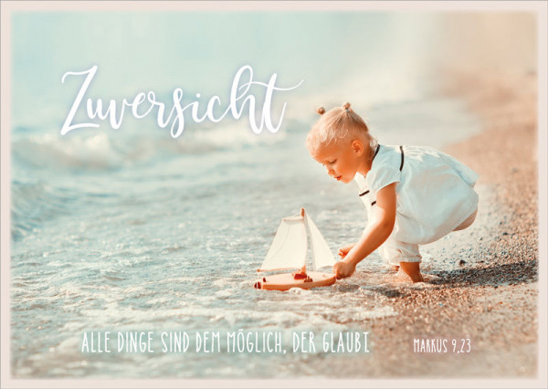 """Postkarte """"Zuversicht Mädchen"""""""