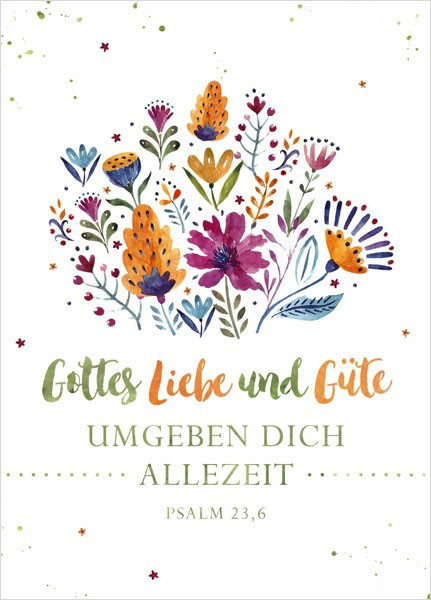 """Postkarte """"Big Blessing - Gottes Liebe und Güte"""""""
