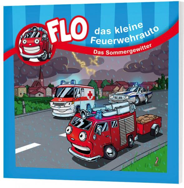 """Flo, das kleine Feuerwehrauto - Mini-Buch """"Das Sommergewitter"""""""