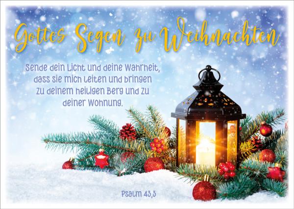 """Postkarte """"Windlicht Zweige"""""""