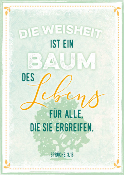 "postkarte ""baum des lebens""  leseplatz"
