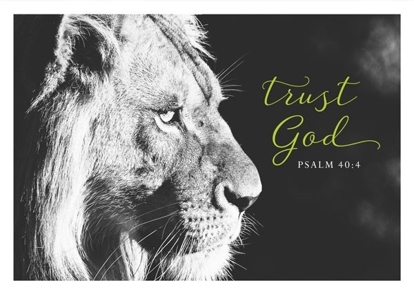 "Postkarte ""Black & White - Trust God"""