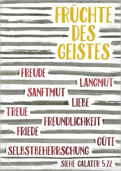 """Postkarte """"Früchte des Geistes"""""""