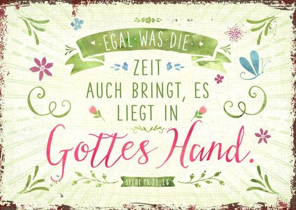 """Postkarte """"Gottes Hand"""""""