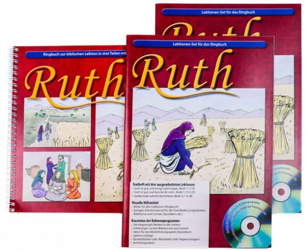 Ruth Textheft / Arbeitsmaterial / Ringbuch mit 18 Bildern inkl. CD-ROM mit Text und Vorlagen