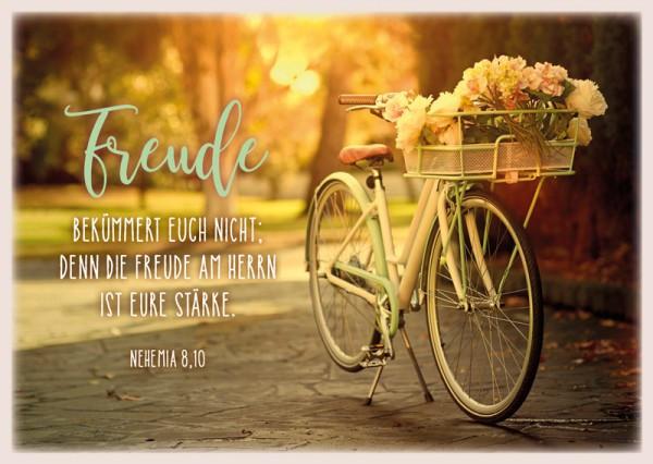 "Postkarte ""Freude/Fahrrad"""