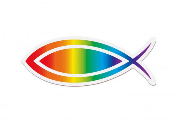 """Aufkleber """"Regenbogenfisch"""""""