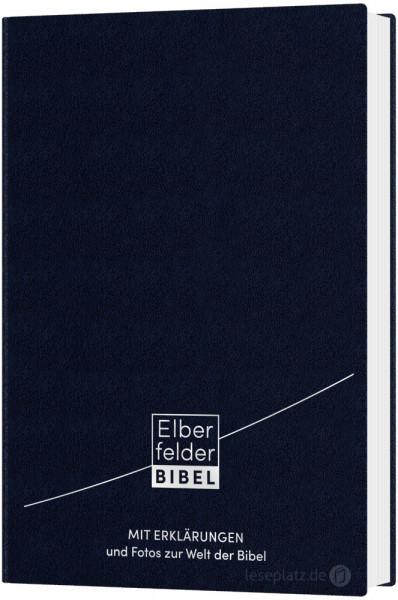 Elberfelder Bibel 2006 mit Erklärungen - Ledereinband blau