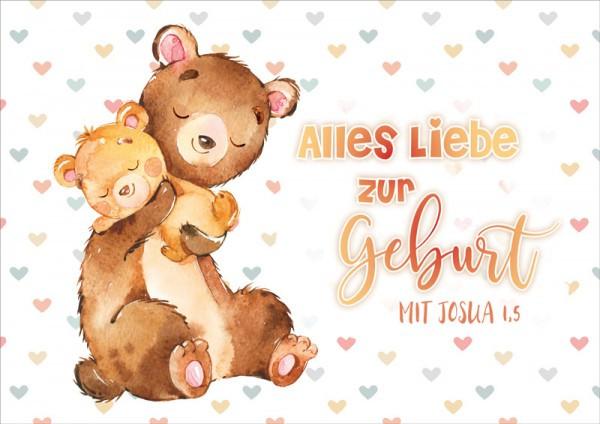 "Faltkarte ""Bären Baby"" - Geburt"