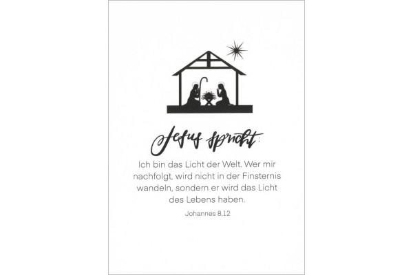"""Postkarte """"Licht der Welt"""""""