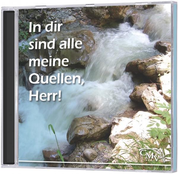 In dir sind alle meine Quellen, Herr! - CD